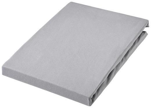 SPANNBETTTUCH Jersey Silberfarben bügelfrei, für Wasserbetten geeignet - Silberfarben, Basics, Textil (100/220cm) - Novel