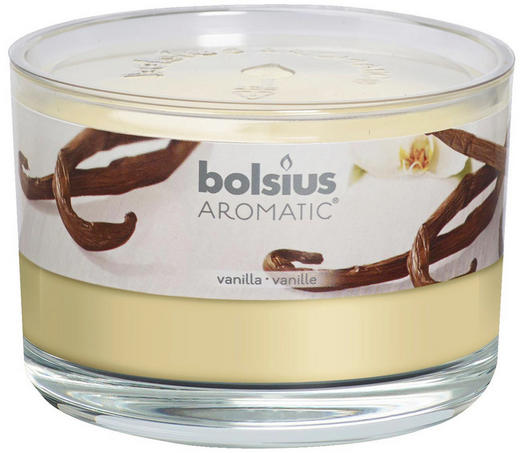 DUFTKERZE Vanille - Klar/Creme, Basics, Glas (9/6,3/cm) - Bolsius