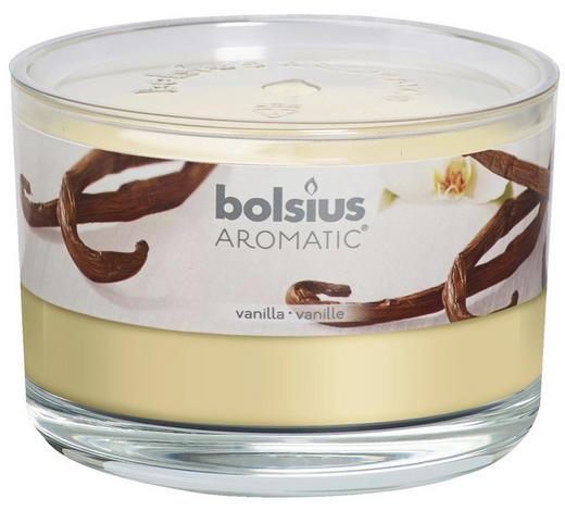 DUFTKERZE Vanille - Klar/Creme, Basics, Glas (9/6,3cm) - Bolsius