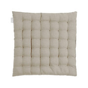 SITZKISSEN 40/40/3 cm - Grau, Basics, Textil (40/40/3cm) - Linum