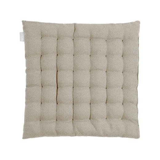 SITZKISSEN Grau 40/40/3 cm - Grau, Basics, Textil (40/40/3cm) - LINUM