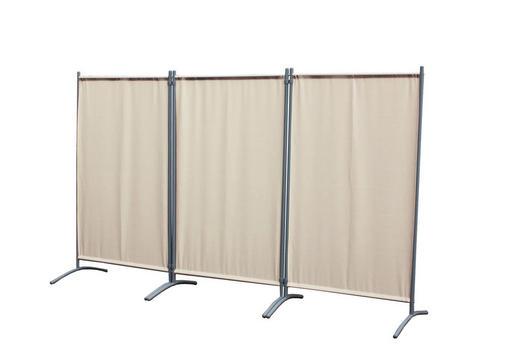 SICHTSCHUTZ - Sandfarben, Basics, Textil/Metall (258/155cm)