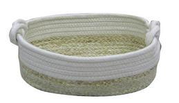 REGALKORB 29/19/12 cm   - Beige/Weiß, Basics, Naturmaterialien/Textil (29/19/12cm) - Landscape