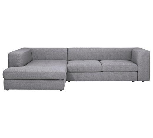 Ecksofa Grau Webstoff - Schwarz/Grau, Design, Kunststoff/Textil (194/304cm) - Dieter Knoll