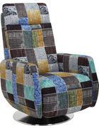 RELAXAČNÍ KŘESLO - vícebarevná/barvy nerez oceli, Design, kov/textil (68/110/88cm) - Beldomo Style