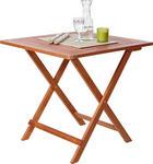 ZAHRADNÍ SKLÁPĚCÍ STOLEK - barva teak, Konvenční, dřevo (75/72/75cm) - AMBIA GARDEN