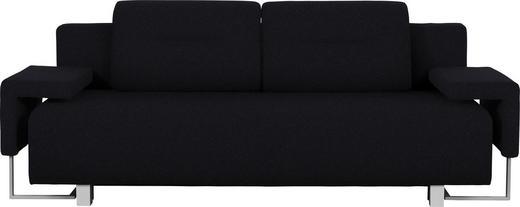 SCHLAFSOFA in Textil Schwarz - Chromfarben/Schwarz, Design, Kunststoff/Textil (222/84/93cm) - Carryhome