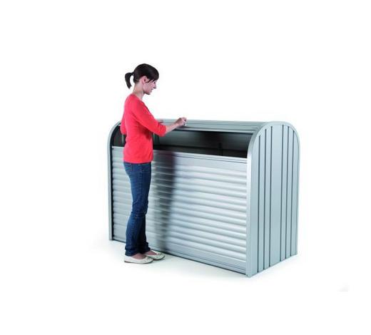 AUFBEWAHRUNGSBOX 163/78/120 cm - Silberfarben, Design, Metall (163/78/120cm) - Biohort