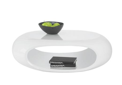 COUCHTISCH oval Weiß - Weiß, Design, Kunststoff (100/70/32cm) - CARRYHOME