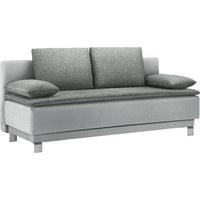SCHLAFSOFA in Textil Grau - Grau, Design, Textil/Metall (200/85/90cm) - Joka