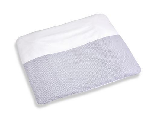 WICKELAUFLAGE - Weiß/Grau, Basics, Textil (85/75cm) - My Baby Lou