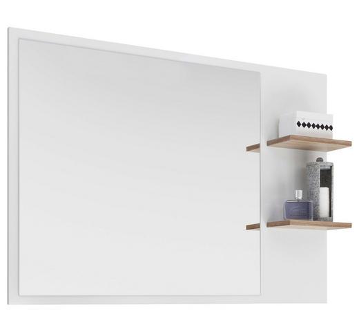 BADEZIMMERSPIEGEL  - Eichefarben/Weiß, Design (100,0/74,5/15,5cm) - Xora