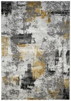 VÄVD MATTA 133/190 cm - ljusgrå/grå, Design, trä/plast (133/190cm) - Novel