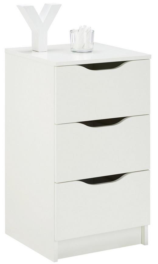 KOMMODE Weiß - Weiß, LIFESTYLE (40/71/40cm) - Carryhome