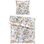 BETTWÄSCHE Satin Multicolor, Weiß  - Multicolor/Weiß, Trend, Textil (135/200cm) - Esposa