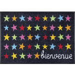 FUßMATTE 50/75 cm Stern Multicolor, Dunkelgrau  - Dunkelgrau/Multicolor, Basics, Kunststoff/Textil (50/75cm) - Esposa