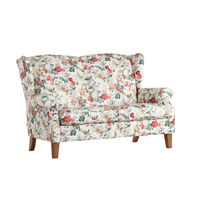 Dvosed  večbarvno tekstil - hrast/večbarvno, Konvencionalno, tekstil (160/104/90cm) - Ambia Home