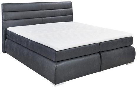 BOXSPRING KREVET - Srebrna/Antracit, Konvencionalno, Tekstil/Plastika (180/200cm) - Carryhome