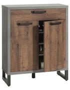 OMARA ZA ČEVLJE siva, hrast, temno siva - temno siva/siva, Trend, kovina/leseni material (90/110/35cm) - Carryhome
