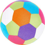SPIELBALL - Multicolor, Basics, Kunststoff/Textil (23cm) - MY BABY LOU