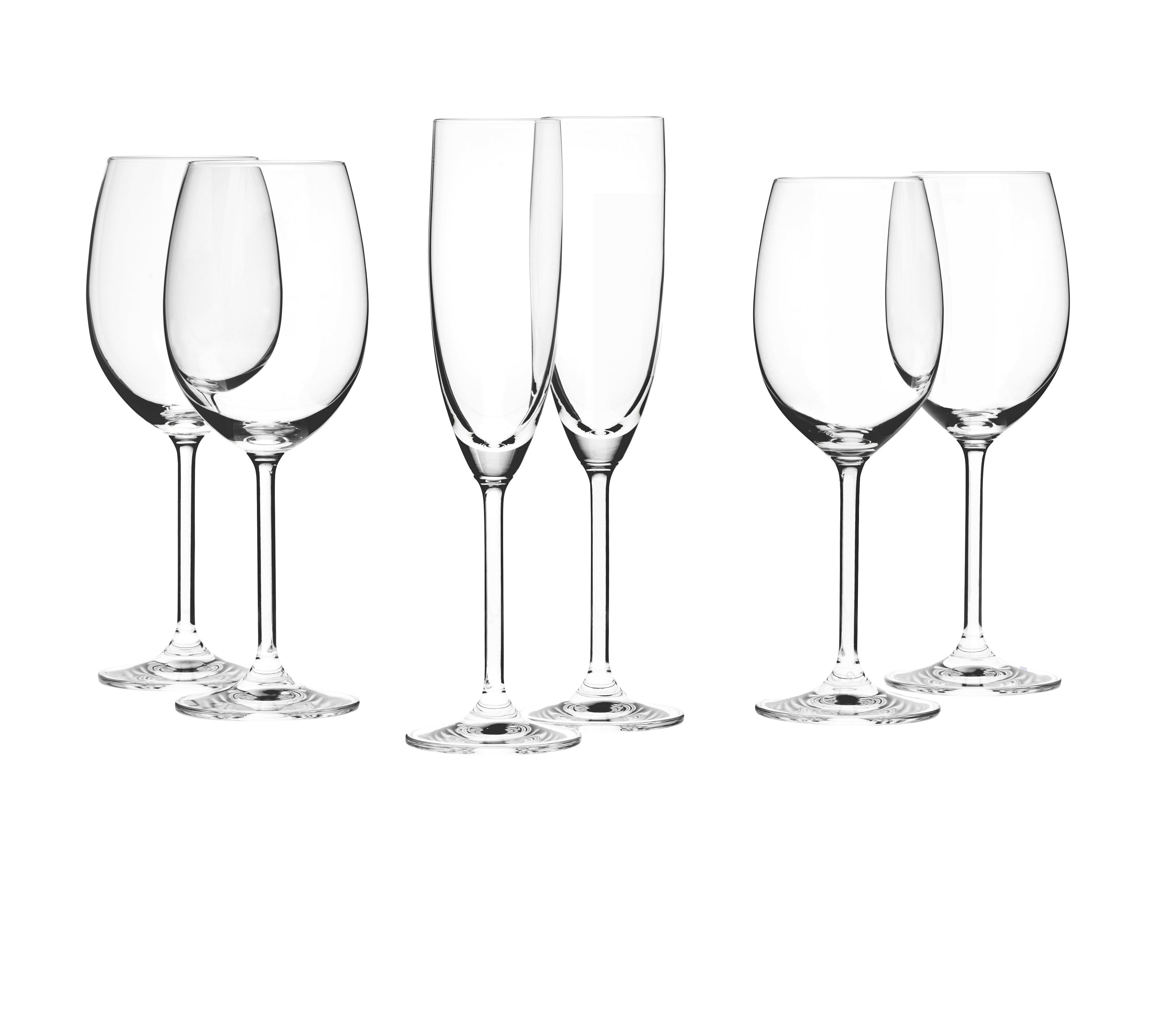 GLÄSERSET 12-teilig - Klar, Basics, Glas - LEONARDO