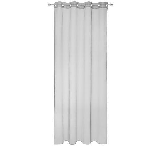 ÖSENVORHANG halbtransparent - Grau, KONVENTIONELL, Textil (140/245cm) - Esposa