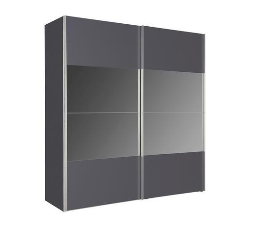 SKŘÍŇ S POSUVNÝMI DVEŘMI, barvy grafitu - barvy grafitu/barvy hliníku, Design, kov/kompozitní dřevo (200/216/68cm) - Hom`in