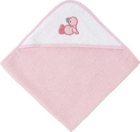 BADLAKAN MED HUVA - vit/rosa, Basics, textil (80/80cm) - My Baby Lou