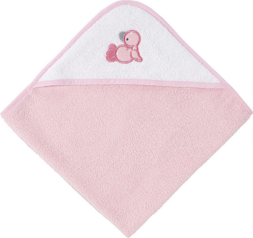 KAPUZENBADETUCH - Rosa/Weiß, Basics, Textil (80/80/cm) - My Baby Lou