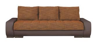 SCHLAFSOFA in Textil Braun, Orange  - Wengefarben/Braun, Design, Holz/Textil (243/90/100cm) - Carryhome