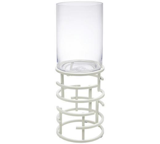 WINDLICHT - Klar/Weiß, Design, Glas/Metall (21/64,6cm) - Ambia Home