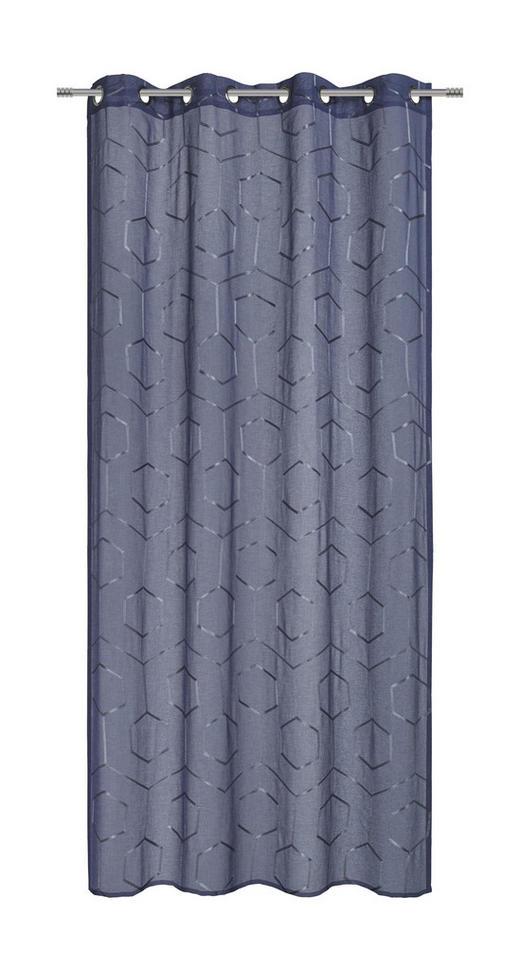 ÖSENVORHANG halbtransparent - Blau, KONVENTIONELL, Textil (135/245cm) - Esposa