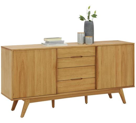 SIDEBOARD Eiche furniert geölt Eichefarben  - Eichefarben, Design, Holz (180/84/44cm) - Lomoco