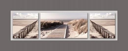 Landschaft & Natur ALUMINIUMBILD - Multicolor, Basics, Glas/Holz (50/125cm) - EUROGRAPHICS