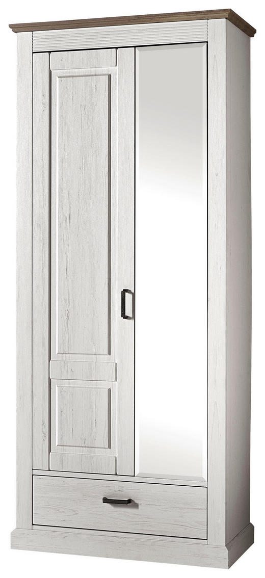 GARDEROB - pinjefärgad/alufärgad, Lifestyle, metall/glas (89/206/42cm) - LANDSCAPE
