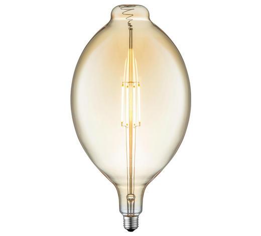 LED-Leuchtmittel E27 - Bernsteinfarben, Basics, Glas/Metall (18/33cm)