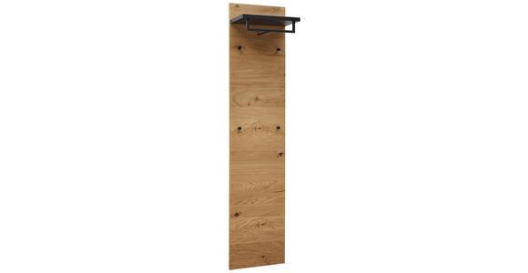 GARDEROBENPANEEL 42/183/27 cm  - Eichefarben/Anthrazit, Design, Holz/Metall (42/183/27cm) - Dieter Knoll