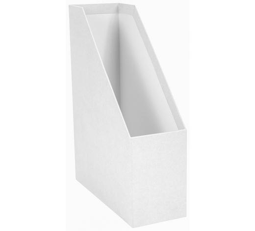 ZEITSCHRIFTENORDNER 25/32,5/10 cm - Weiß, Basics, Karton (25/32,5/10cm)