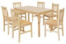 TISCHGRUPPE in Holz Kieferfarben  - Kieferfarben, Basics, Holz (120/73/65cm) - Carryhome