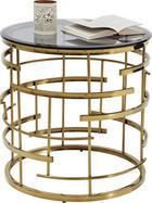 BEISTELLTISCH rund Goldfarben - Goldfarben, Trend, Glas/Metall (55/55/55cm) - Kare-Design
