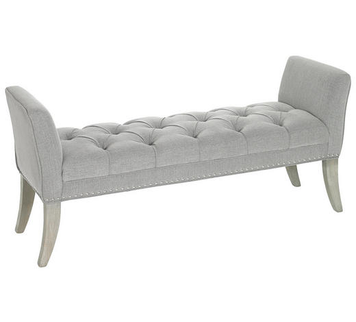 SITZBANK 143/64/47 cm - Grau, Trend, Holz/Textil (143/64/47cm) - Ambia Home