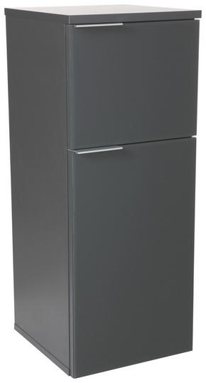 UNDERSKÅP - antracit, Design, metall/glas (30cm) - Xora