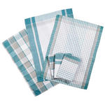 GESCHIRRTUCH-SET  6-teilig  - Türkis, KONVENTIONELL, Textil (50/70cm) - Boxxx
