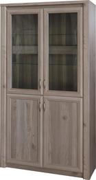 VITRÍNA, barvy dubu - barvy dubu/světle žlutá, Konvenční, kov/dřevěný materiál (104/197/40cm) - Cantus