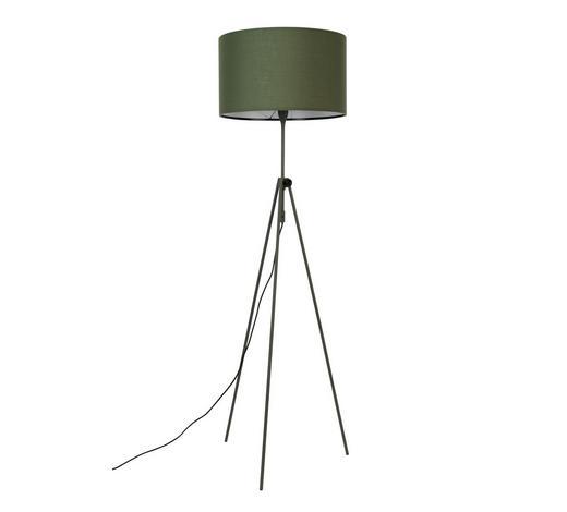 STEHLEUCHTE - Dunkelgrün, Design, Textil/Metall (50/153 - 183cm)