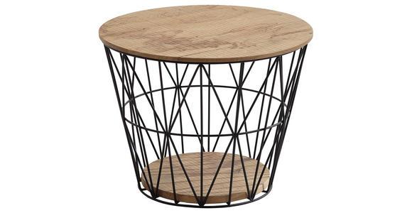 COUCHTISCH in Holz, Metall  51/40 cm - Eichefarben/Anthrazit, Design, Holz/Metall (51/40cm) - Valnatura