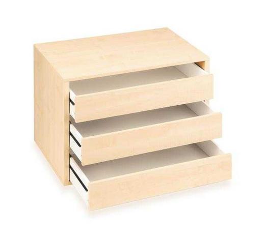 NÁSTAVEC NA ZÁSUVKY, barvy javoru - barvy javoru, Konvenční, kompozitní dřevo (75/54/47cm) - Boxxx