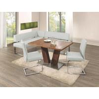 Affordable Eckbank Echtleder Chromfarben Wei Design Ledermetall With  Eckbank Leder Braun