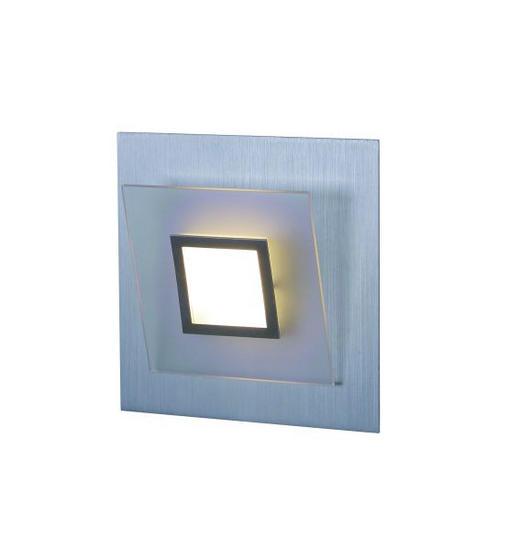 LED-WANDLEUCHTE - Alufarben, LIFESTYLE, Metall (17/17/10cm)