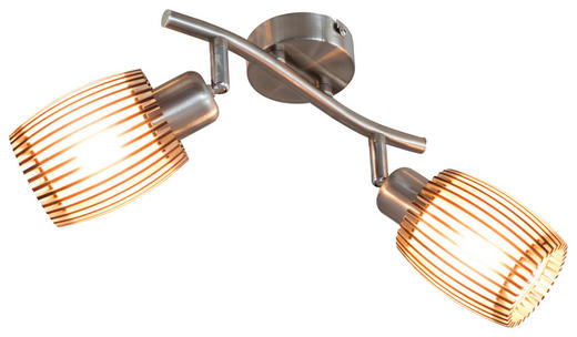 DECKENLEUCHTE - Eichefarben, Basics, Holzwerkstoff/Metall (25cm)
